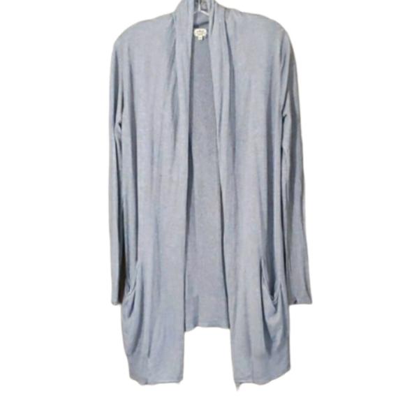 Aritzia Wilfred Grey Silk/Cashmere Cardigan